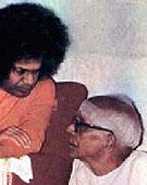 Sai Baba with N. Kasturi