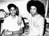 Sai Baba and boy