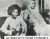 Swami Sivananda of Rishikesk with Sathya Sai Baba