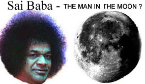 Sai Baba and the moon