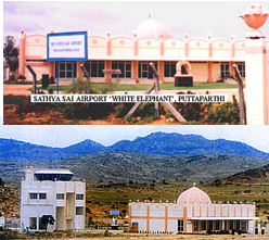 the airport at Puttaparthi