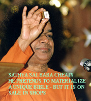 false claim about a Bible by Sai Baba