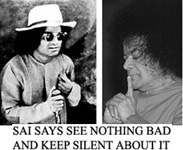 Sathya Sai with dark glasses
