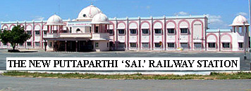 Railway station in Puttaparthi