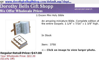 On-line offer of the little Bible