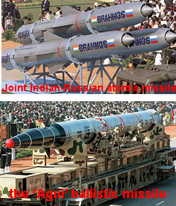 India's ballistic nuclear missiles