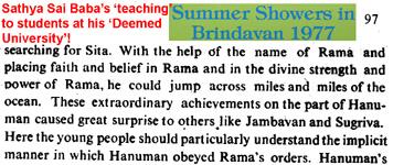 Hanuman text by SaiBaba