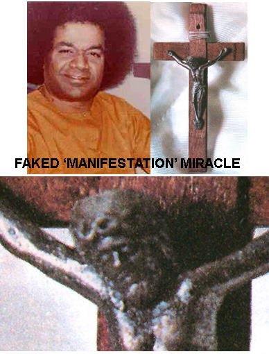 Supposed materialized crucific