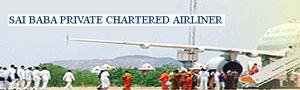 Saik Baba on hired jumbo jet airliner