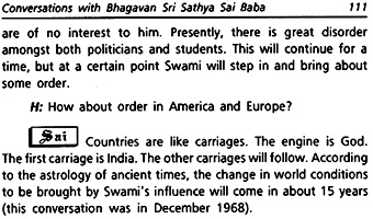 Excerpt from Conversations with Sai Baba