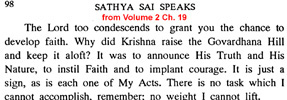 Sai Baba on 'My Acts'