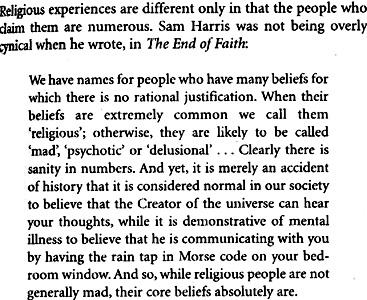 Sam Harris excerpt