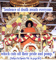 Sathya Sai Baba and death