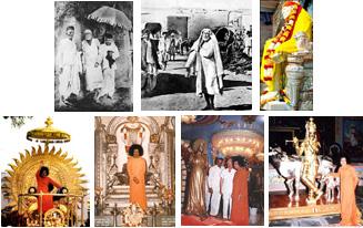 Pictures of Bhagavan Sathya Sai Baba and Sri Shirdi Sai Baba