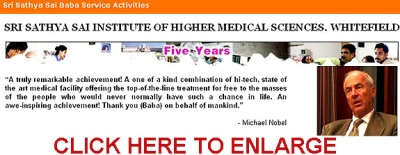 Sathya Sai official webpage promotion of imposter Michael Nobel