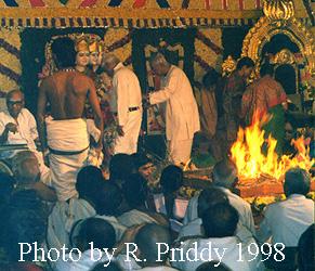 Hindu homa ritual - 1998