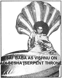 Sathya Sai Baba as Vishnu