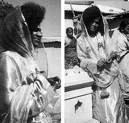Sai Baba in a sari