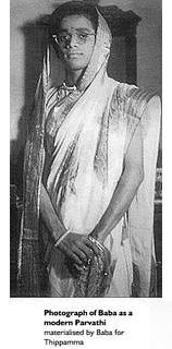 Sathya Sai Baba in a sari