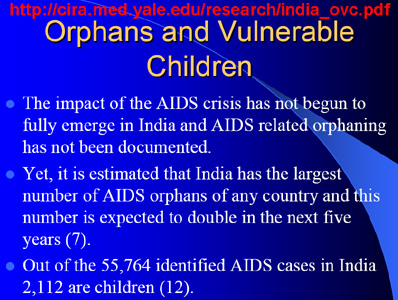 from a Harvard study on AIDS and orphans in India