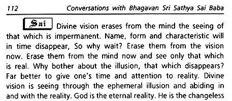 Sathya Sai Baba's supreme spiritual teaching