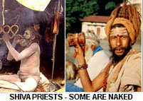 Examples of Shiva priests