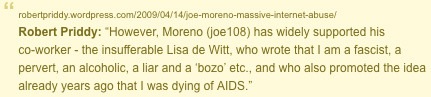 scan from Joe Moreno's blog against me