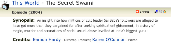 Click on image to see showcase of 'The Secret Swami'