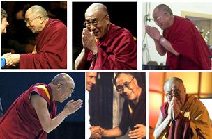 Dalai Lama bows deeply