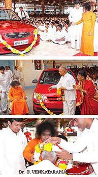 Venkataraman and Chackravati get frre cars!