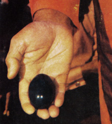 Black lingam allegedly manifested by Sathya Sai Baba