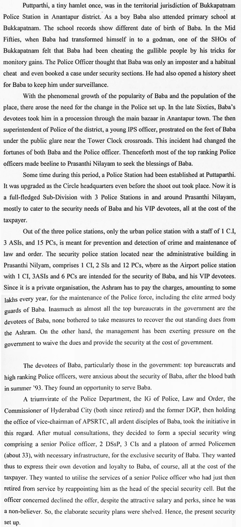 Excerpt from 'The Godmen of India', 2005.