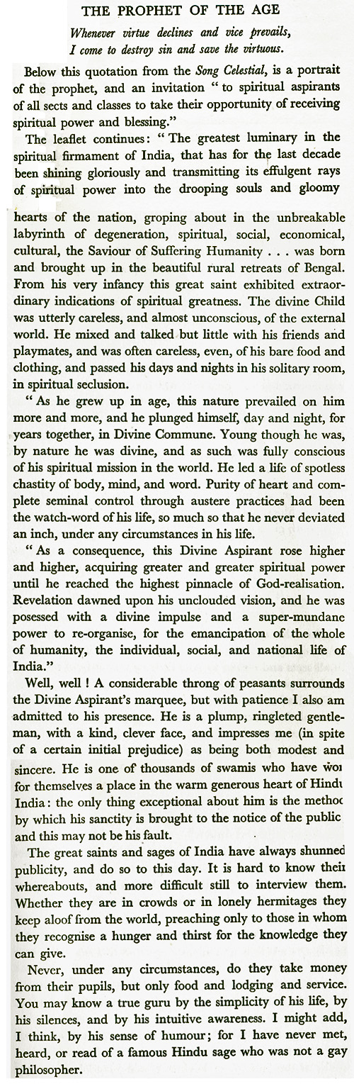 Scan from F. Yeats-Brown's 'Lancer at Large' London, 1936
