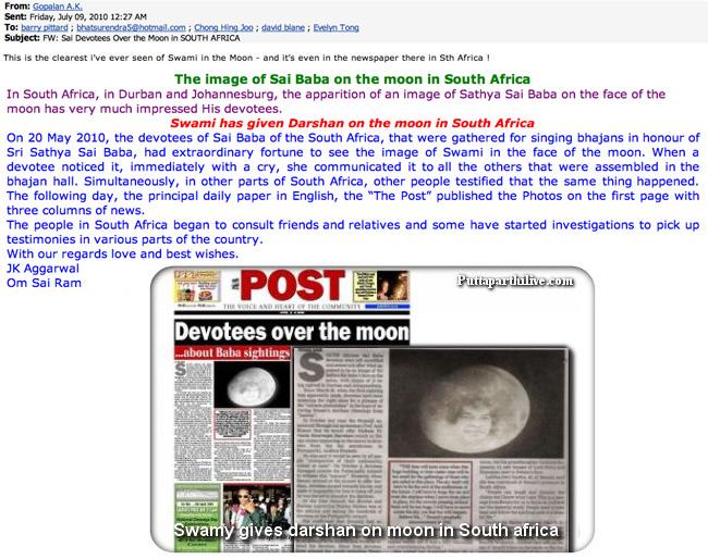 Moon miracle « Sathya Sai Baba Deceptions Exposed