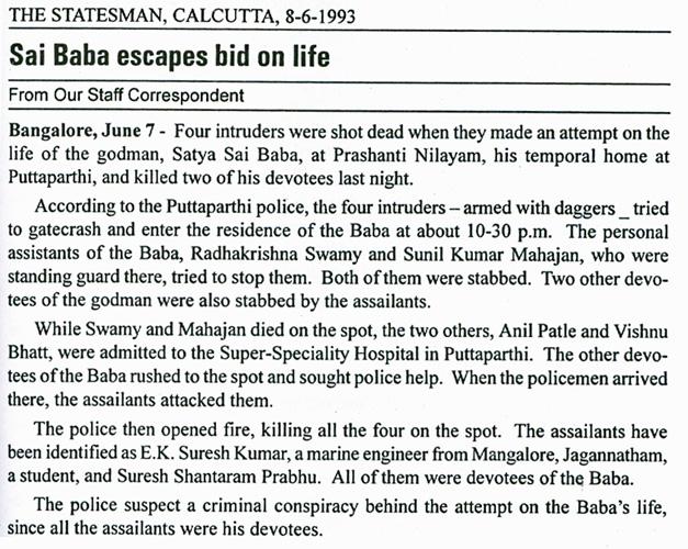 from The Statesman, Calcutta on 'Lawless Godmen'