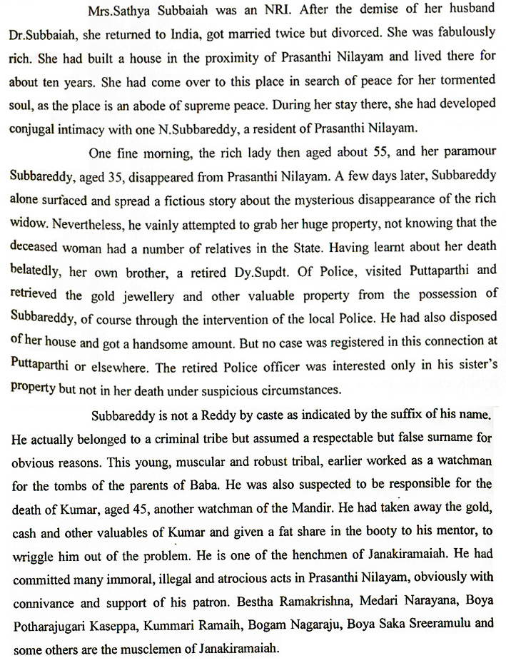 J.V. Ram - Indian criminal Investigator's book 'The Godmen of India'  - excerpt
