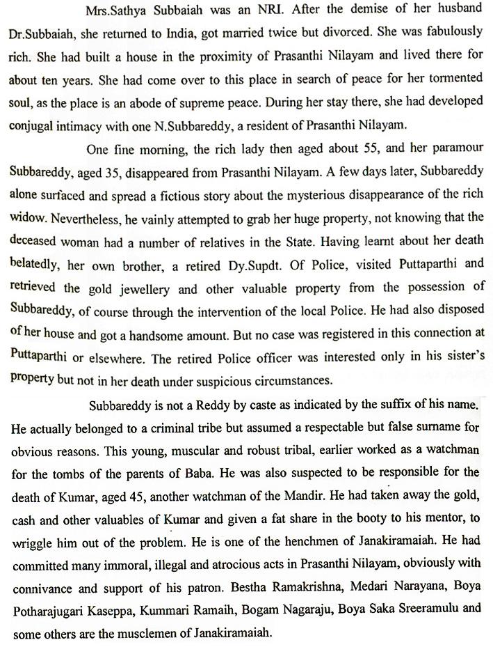 J.V. Ram - Indian criminal Investigator's book 'The Godmen of India'  - excerpt