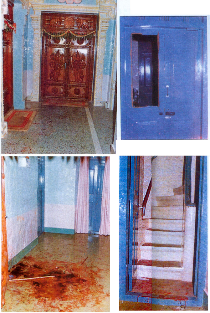 'The door and curtains of shame' -Sathya Sai baba interview room door (blue) and temple door.