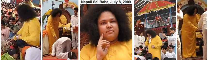 Some photos of the new 'Sai Baba' of Nepal.