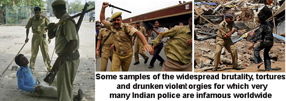 Some graphic proofs of the bestiality of Indian police - a widespread state of affairs