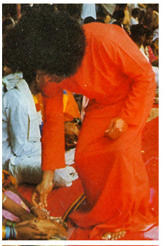 scan of Sai Baba from a book
