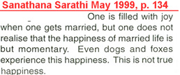 Sathya Sai Baba compares marriage to the actions of dogs and foxes
