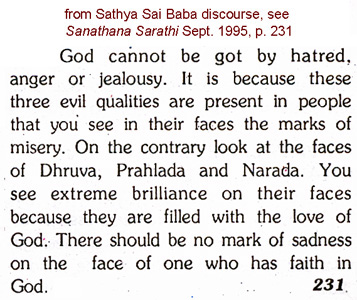 scan of Sathya Sai Baba's words in a 1995 discourse