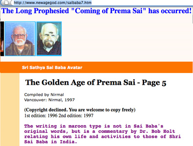 Canadian Sai devotees declares Prema Sai is here