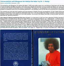 "Hislop's ""Conversations with Bhagavan Sri Sathya Sai Baba"""