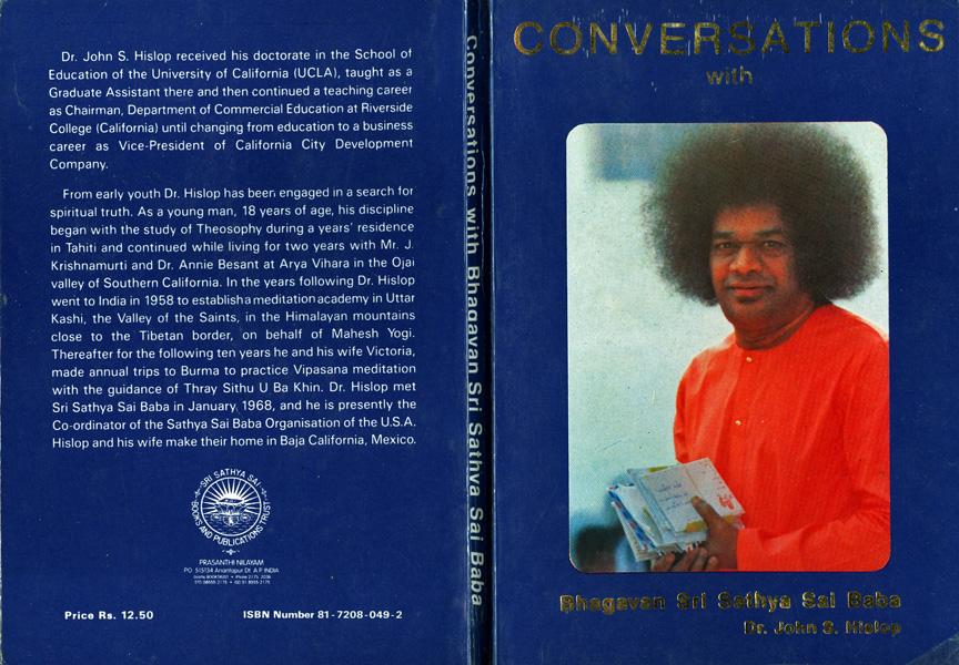 Dr. John Hislop 'Conversations with Bhagavan Sri Sathya Sai Baba'