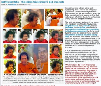Sathya Sai Baba - the Indian Government's God Incarnate