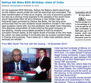 Sathya Sai Baba 85th birthday - State of India