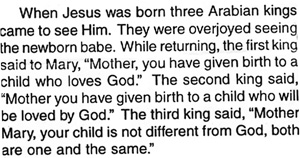 Sathya Sai Baba on birth of Jesus and what the three kings of orient said