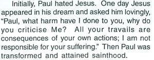 Initially, Paul hated Jesus - said Sathya Sai Baba